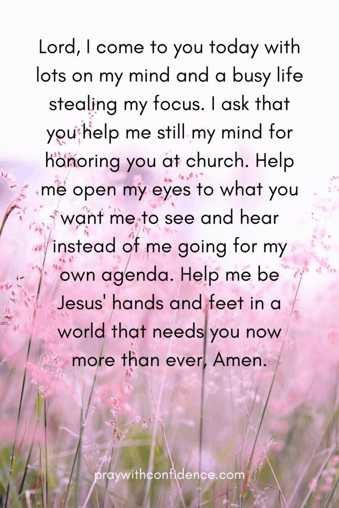 Sunday morning prayer for church