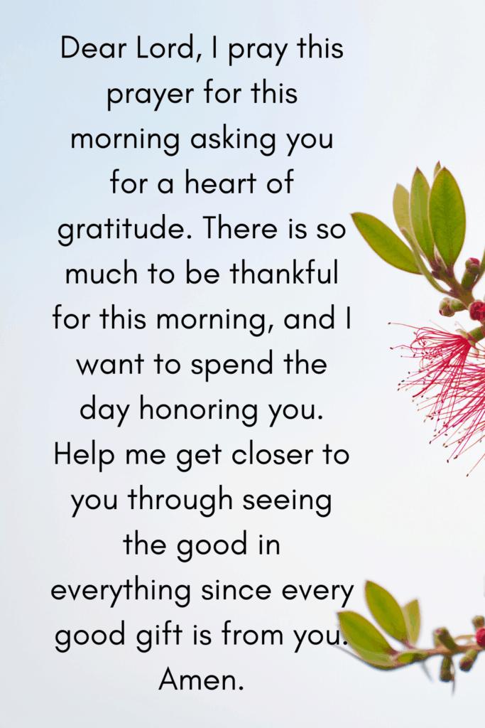 prayer for Sunday morning