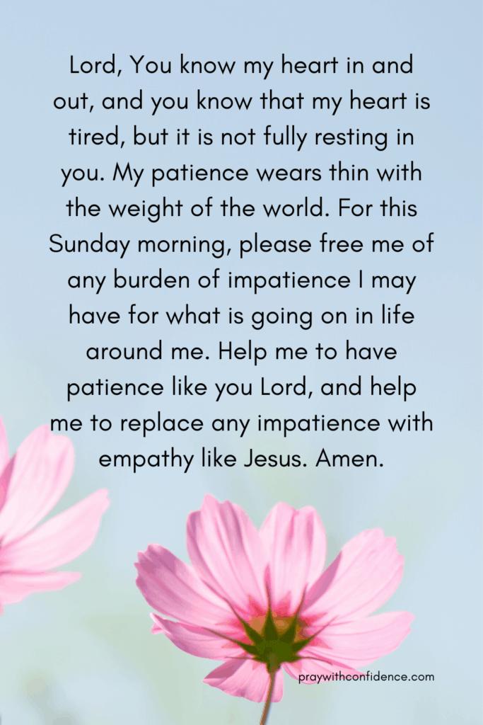 prayer of patience