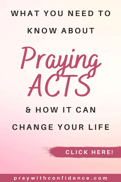 how to pray ACTS acronym