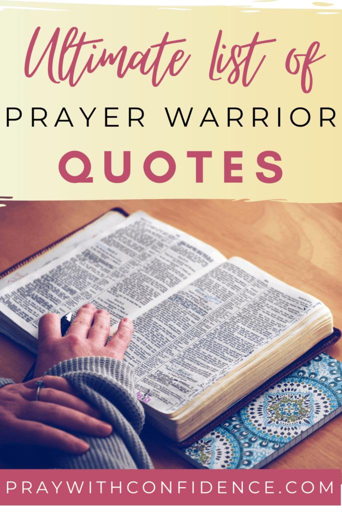 prayer warrior quotes