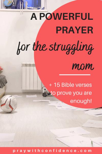 prayer for the struggling mom