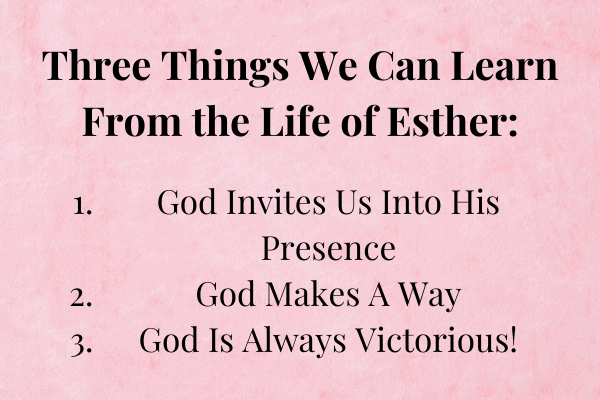life lessons from the book of esther