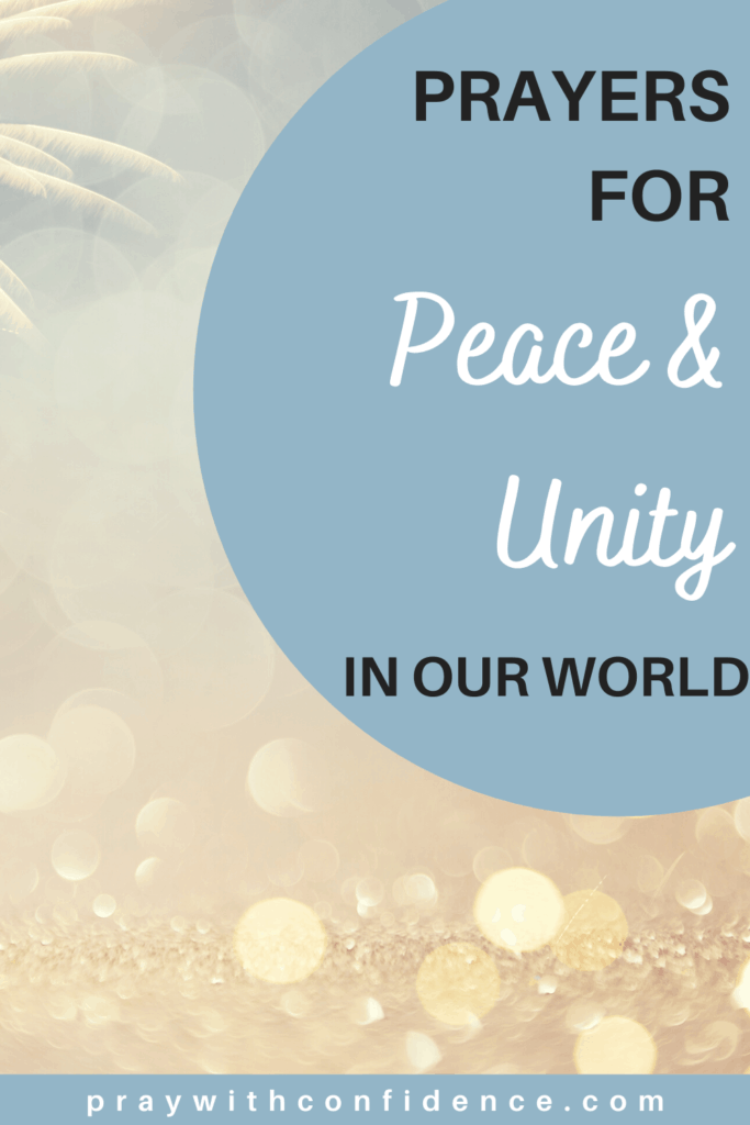 prayers for unity and peace