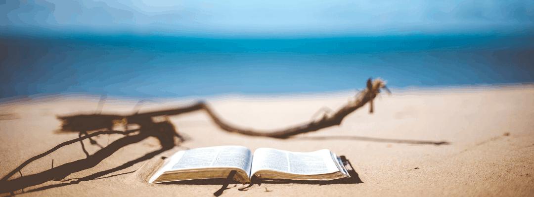 summer scripture on beach