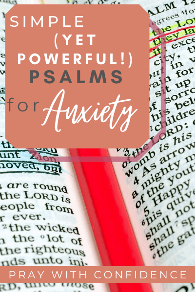 psalms for anxiety