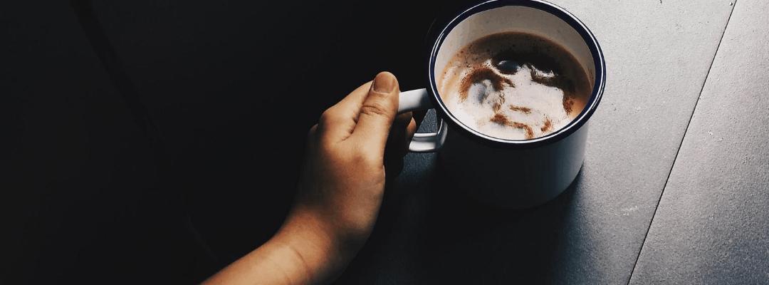 coffee mug praying simple prayers