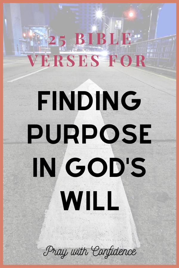 scriptures on purpose