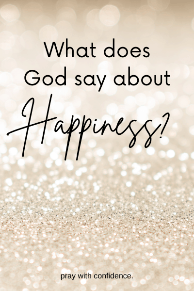 what does God say about happiness gold background